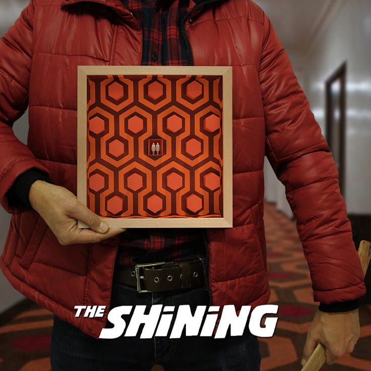 """The Shining - """" Come play with us. Forever…ever…ever """"  Three dimensional paper artwork inspired in Stanley Kubrick movie """"The Shining"""".  Limited edition, 100 copies. Take it in www.thesmallestboy.com/en/shop"""