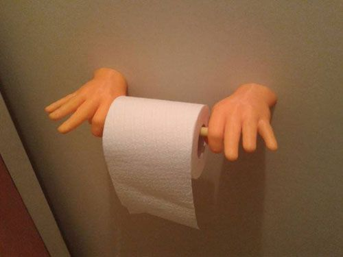 cool 3d printer creations -- toilet paper holder
