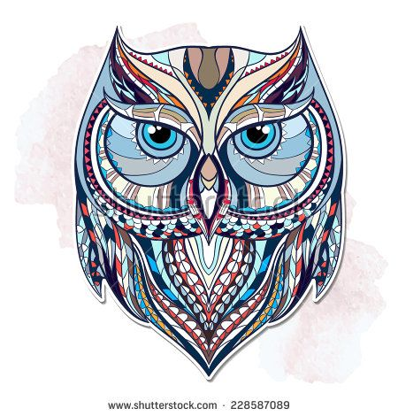 Ethnic owl / african / indian / totem