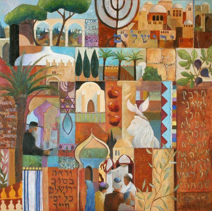 "François Foucras ""Jerusalem"" Artiste Peintre - France"