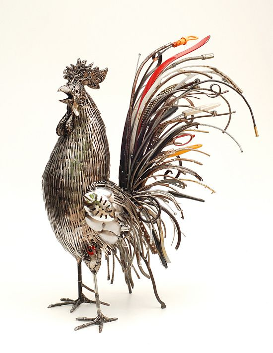 Recycled Metal Sculptures by Brian Mock | Inspiration Grid | Design Inspiration