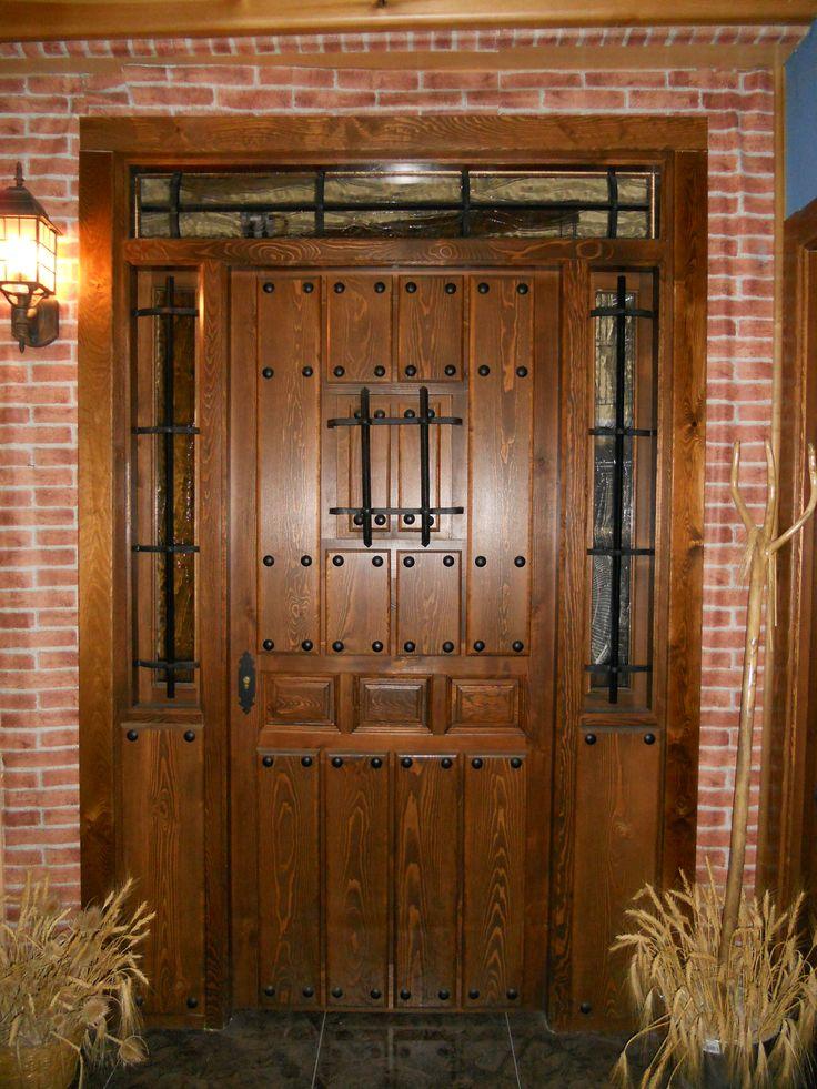 58 best estilos de puertas images on pinterest front for Puertas rusticas exterior