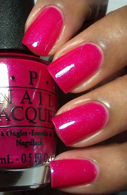 Enamel Girl: OPI I'm All Ears — I have been wanting bright fuschia polish like this