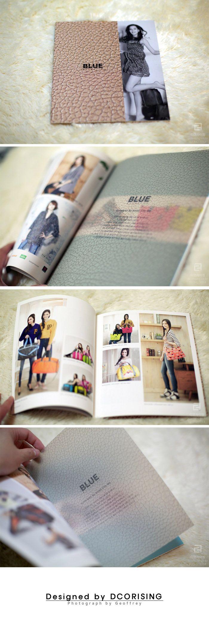 #Catalog Design BLUE 패션 카달로그 디자인