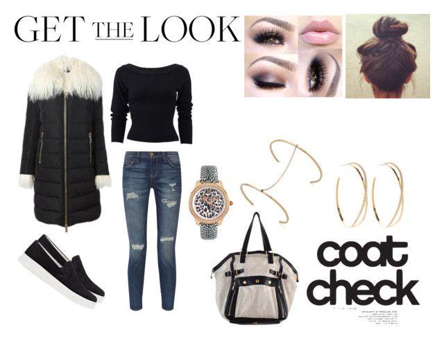 """Get The Look: Cool Coats"" by samyangelo on Polyvore featuring moda, Moncler, Current/Elliott, Donna Karan, Prada Sport, Just Cavalli, Lana, Mirlo y Yves Saint Laurent"