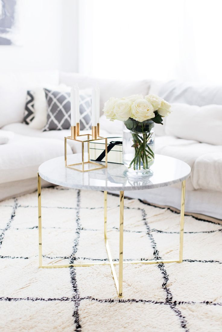 Marble and gold side or coffee table