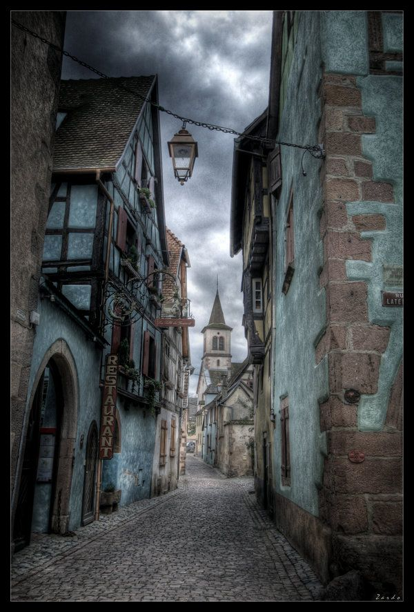 France- I'd be ticked if I went here and it didn't look quite so fairytale like...but like a normal old street.