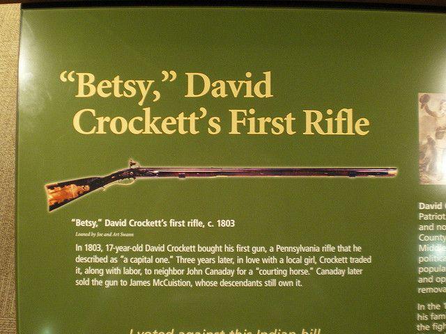 Davy Crockett Rifle | Betsy - Davy Crockett's rifle | Flickr - Photo Sharing!