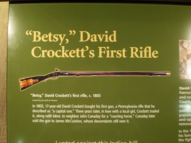 Davy Crockett Rifle | Betsy - Davy Crockett's rifle | Flickr - Photo Sharing!