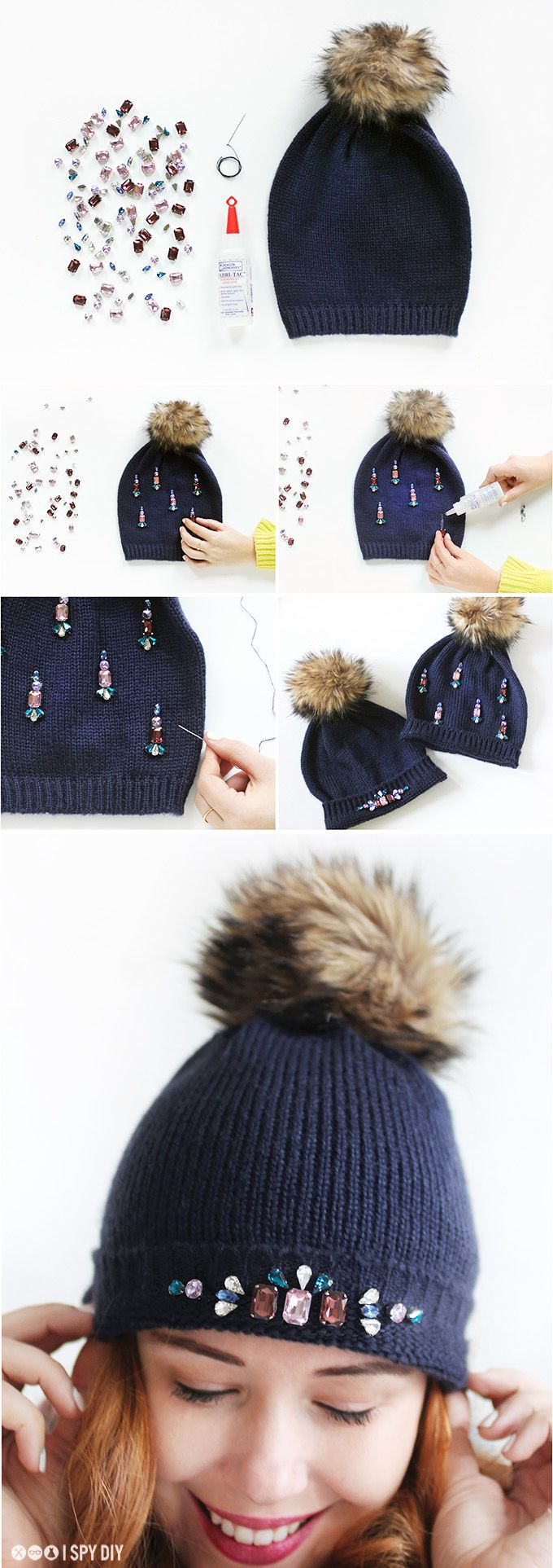 DIY | gem beanie | #f21accessorize