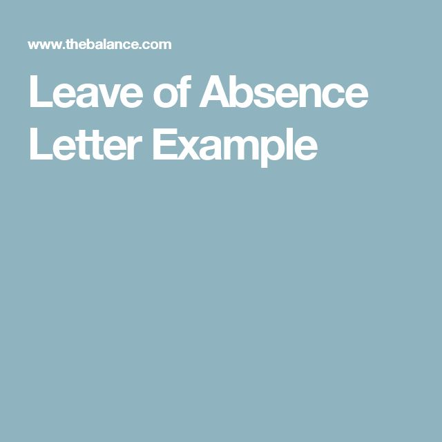 best 25 letter of absence