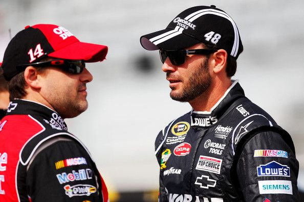 Tony Stewart and Jimmie Johnson. My two favorite drivers! :)