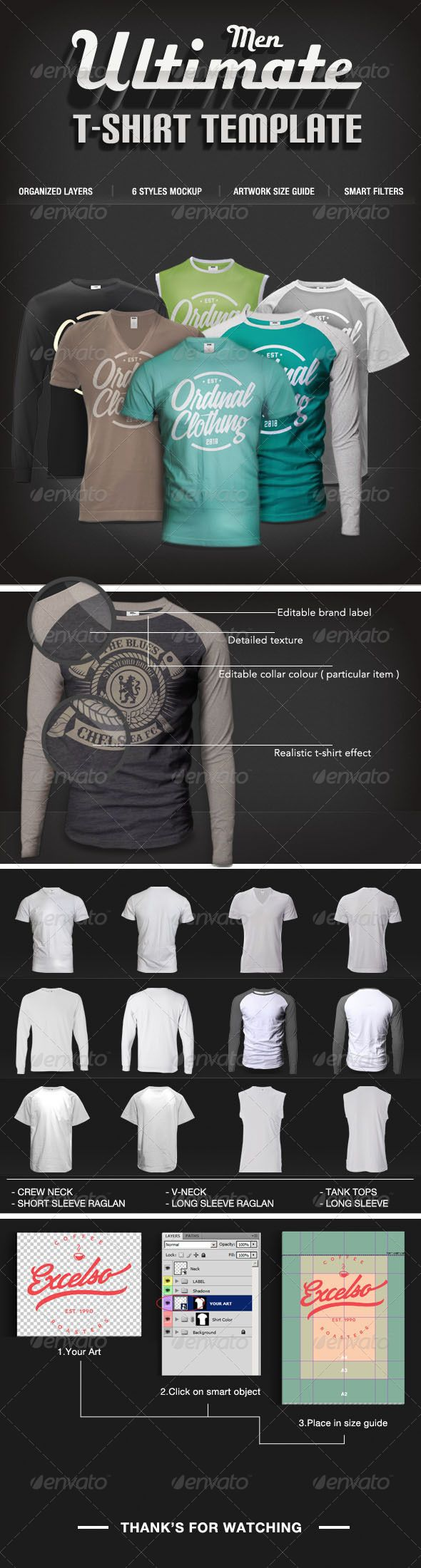 Design t shirt photoshop cs5 - Men T Shirt Mock Ups Set