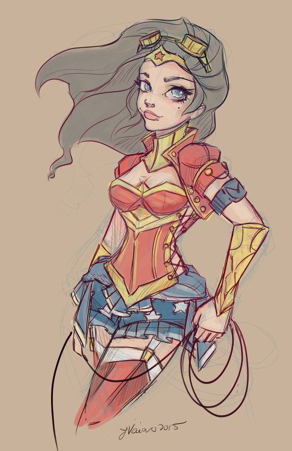 Wonder Woman Sketch by NoFlutter.deviantart.com on @DeviantArt