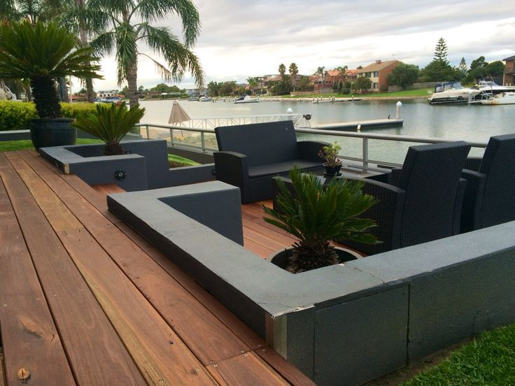Beautiful outdoor area to match the great view