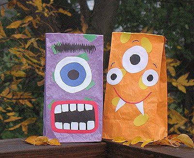 "Monster Paper Bags! - first day of school filled with school ""things"" or, students fill it with 5 items to share for get to know you the first week."