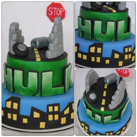 Incredible Hulk Cake - by JoliRoseCupcakes @ CakesDecor.com - cake decorating website