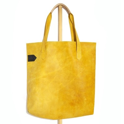 Yellow Leather Shopper - New Kid