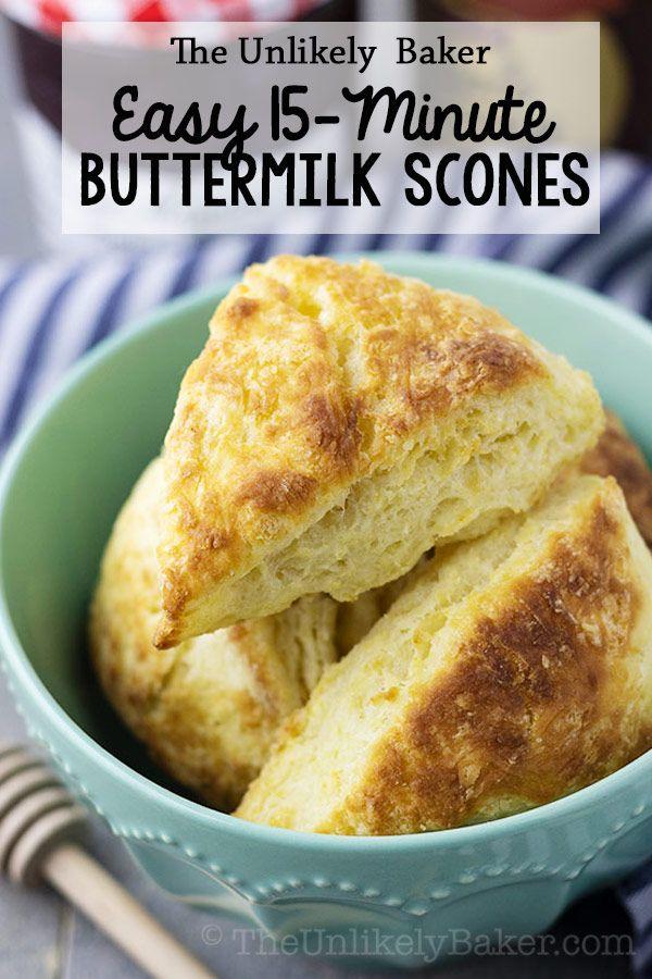 Classic Buttermilk Scones Easy Delicious Done In 15 Minutes Buttermilk Recipes Scones Recipe Easy Buttermilk Scone Recipe