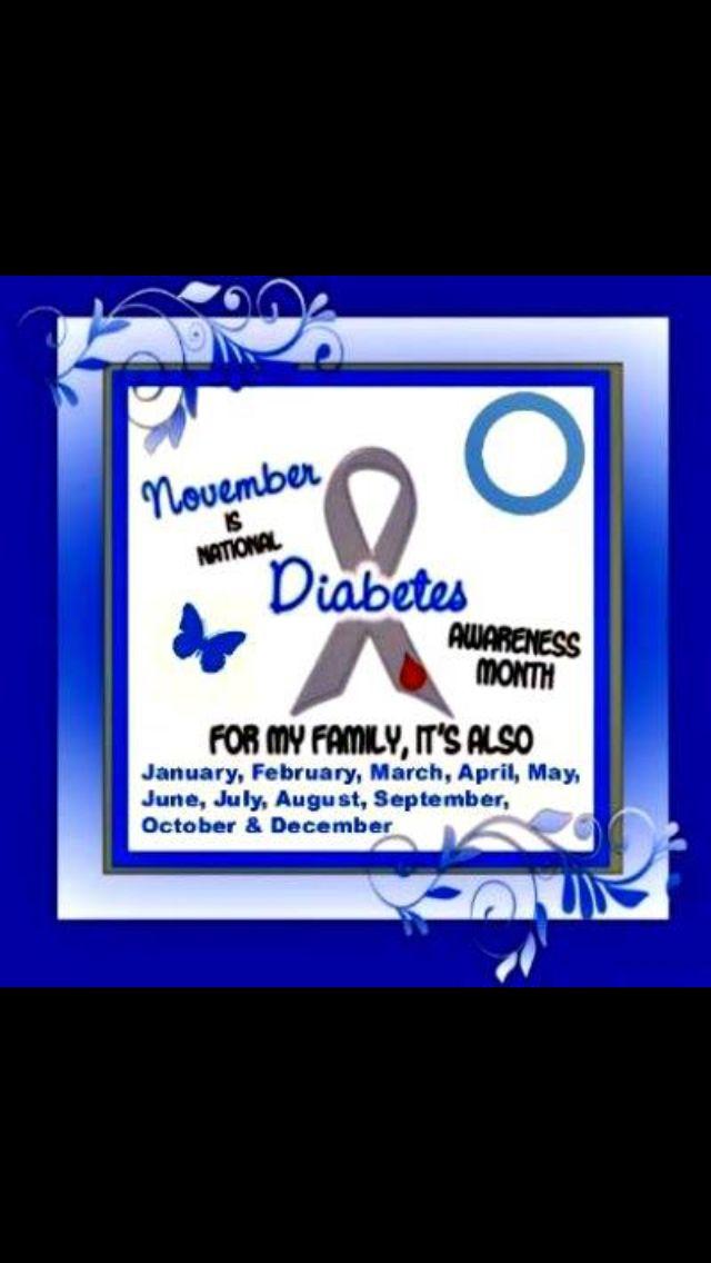 November Is Diabetes Awareness Month Blue Awareness