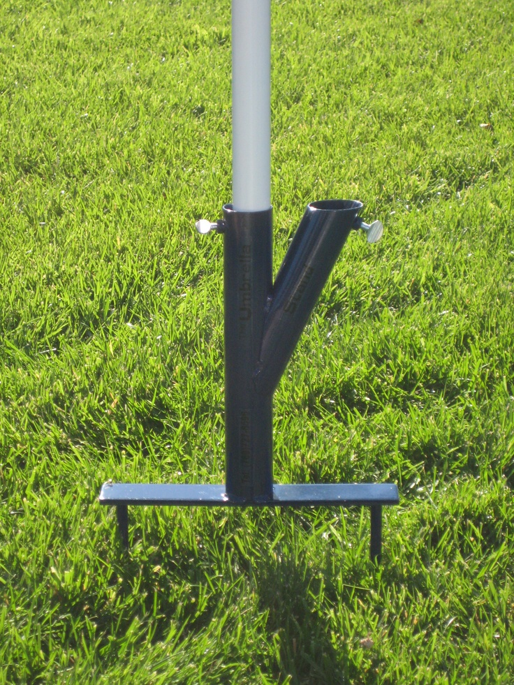 Original Umbrella Stand In Ground Portable Umbrella Stand - $27 on Amazon Prime. Could I do a cemented in double PVC pipe holder for back patio? Like the possibility of tilting it to block sun.