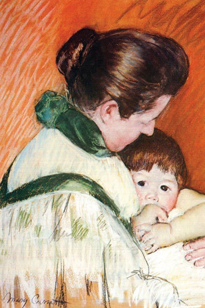 Woman And Child 1893 By Mary Cassatt