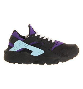 Air Huarache Black White Court Purple