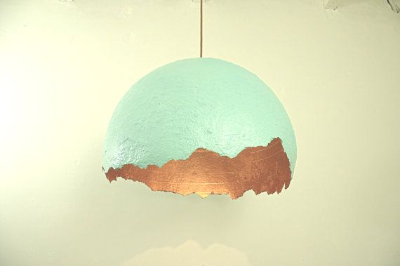 Pendant lamp  hanging lamp  paper mache lamp by RoughHandsTheHague