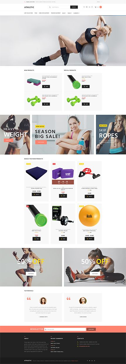 Fitness Gear Online Store #WooCommerce #template. #themes #business #responsive #WooCommercethemes
