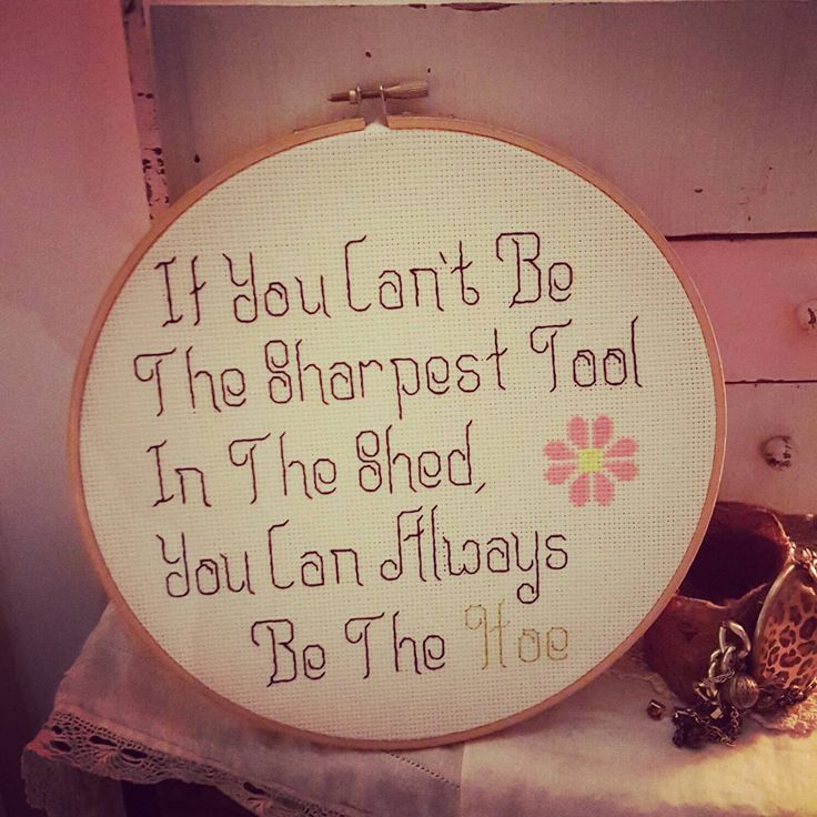 Inappropriate cross stitch, sharpest tool in the shed,  sampler,  humorous saying,  adult cross stitch, mature, subversive cross stitch by grammyshop on Etsy https://www.etsy.com/listing/236314171/inappropriate-cross-stitch-sharpest-tool