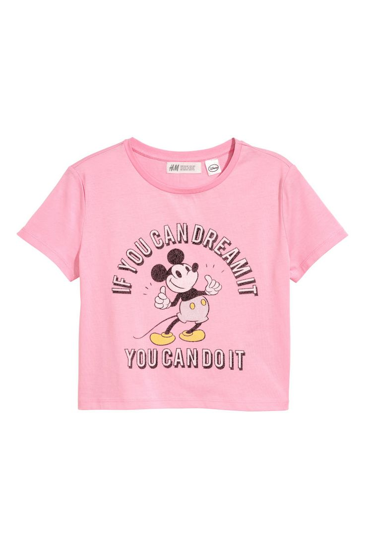 Pink/Mickey Mouse. T-shirt in cotton jersey with a printed design.