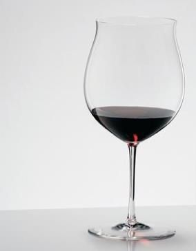 """Riedel Sommeliers Burgundy Grand Cru glass.  This glass was described by Decanter magazine as """"The finest Burgundy glass of all time, suitable for both young and old Burgundies."""""""