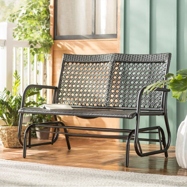 Want To Buy Shupe Steel Rattan Outdoor Patio Double Bench Glider