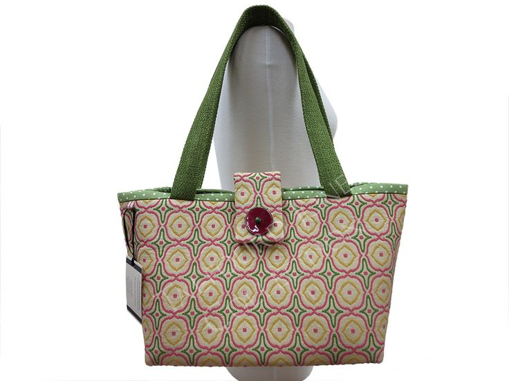 Yellow Medallion Shield Chenille Knitting Tote Bag - Travel Tote Bag - Womens…