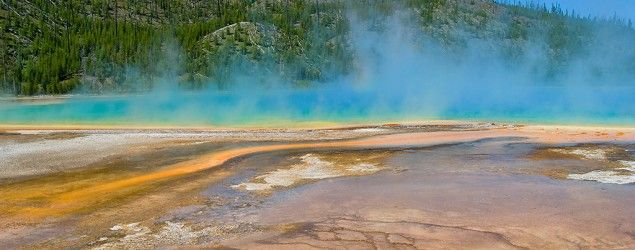 Grand Prismatic Spring at Yellowstone National Park. (Getty Images)