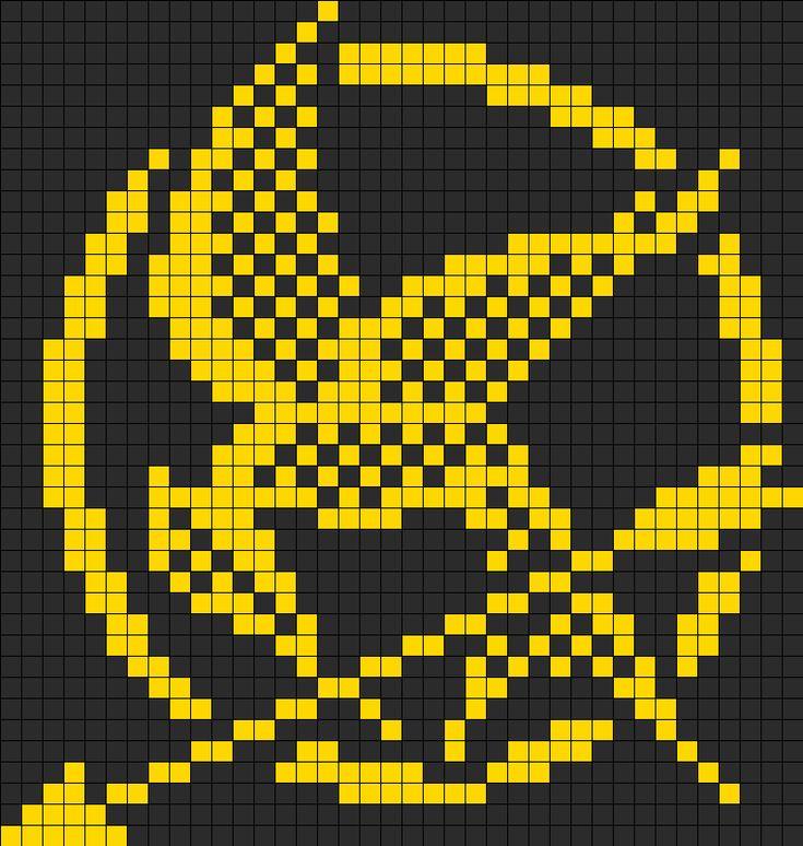 Hunger Games Mockingjay Perler Bead Pattern | Bead Sprites | Misc Fuse Bead Patterns