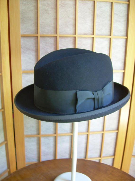 Royal Stetson St. Regis Homburg Hat 7 1/8 Midnight