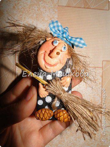 Картина панно рисунок Лепка Бабки Ежки Тесто соленое фото 3