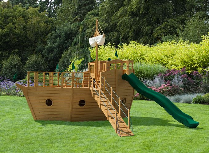 Ship's Ahoy! Swing Set • Play Mor Wooden Swing Sets • Playsets