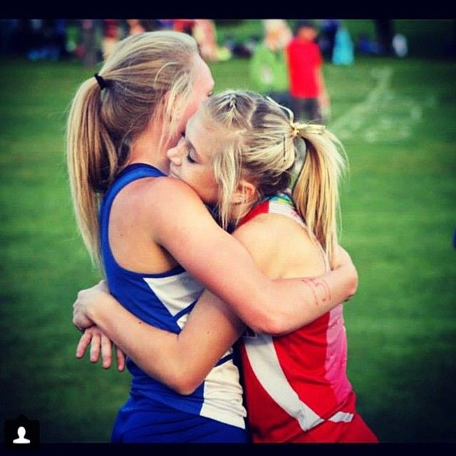 Distance runners are the best at showing true sportsmanship. These competitors are thanking each other for pushing each other to do their best. What sport is this cool? #sportsmanship #run #running www.runsmiles.com