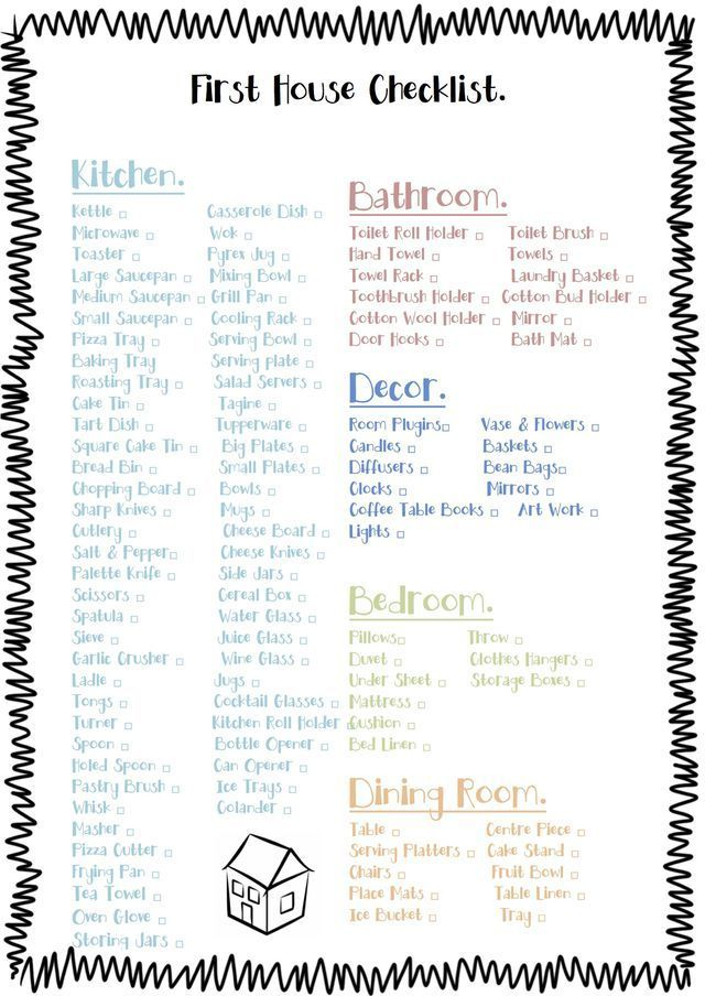 This Printable Shopping List Is For People Moving Into A New House