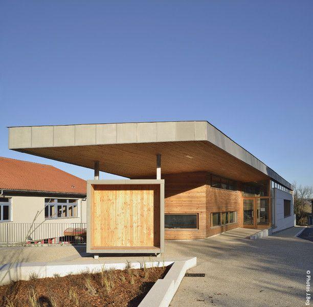 Une bibliothèque médiathèque - Treffort Cuisiat - Prix national de la construction bois - Panorama