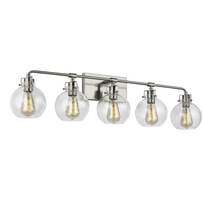 Michelson 5 Light Dimmable Vanity Light In 2020 Vanity Lighting Glass Vanity Bath Vanity Lighting