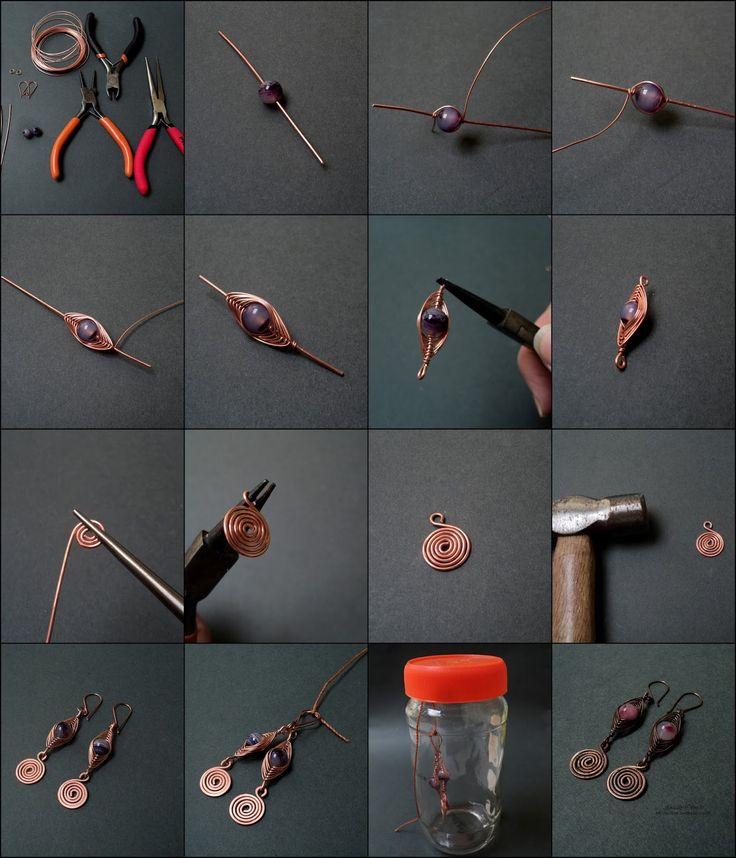 Materiales y herramientas que necesitan:  1. Alambre de Cobre del calibre #20 y Alambre de Cobre de 0.50 mm.  2. Dos argollas de C...