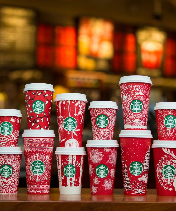 New Starbucks Winter Red Cups - Every Cup Design | There are 13 new Starbucks holiday cups dropping tomorrow. #refinery29 http://www.refinery29.com/2016/11/129349/all-starbucks-winter-red-cups-designs