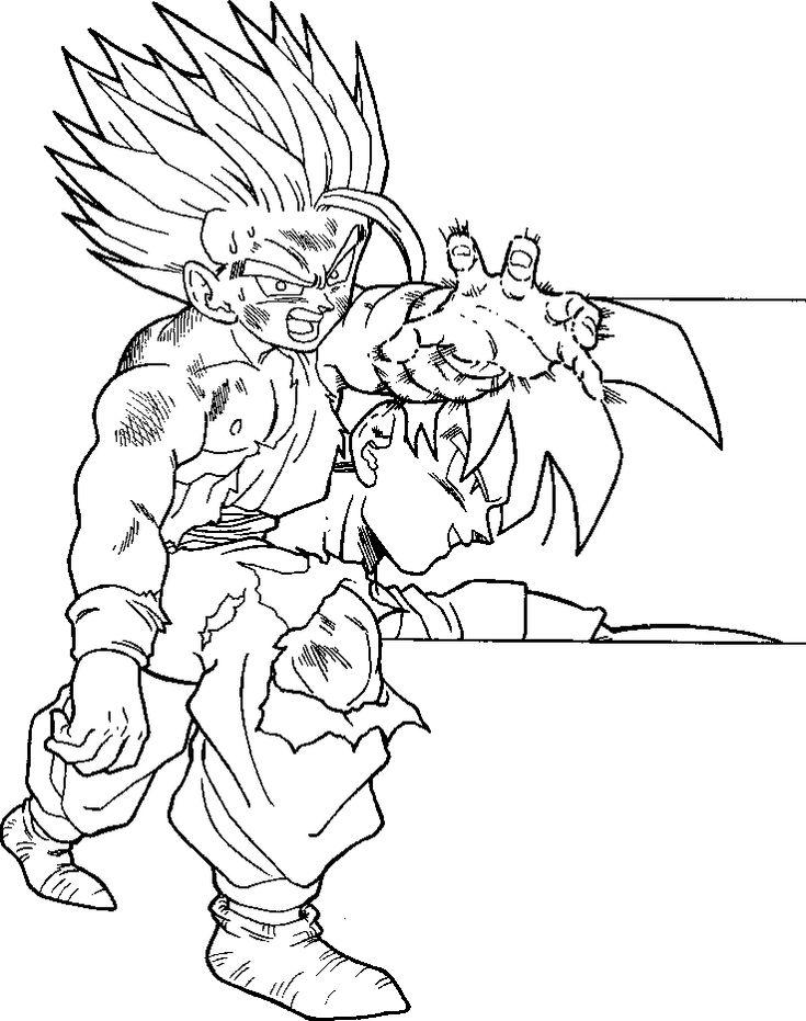 Pin en LineArt Dragon Ball