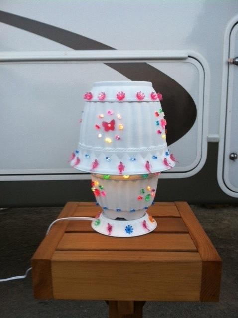Flower Pot Lamp For Camping Craft Ideas Pinterest