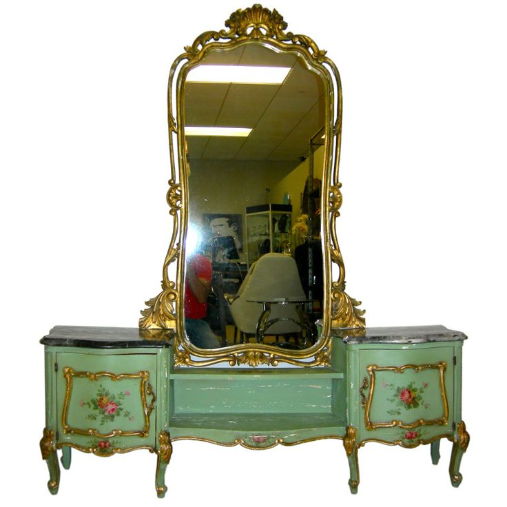 Marble Top Antique Italian Vanity