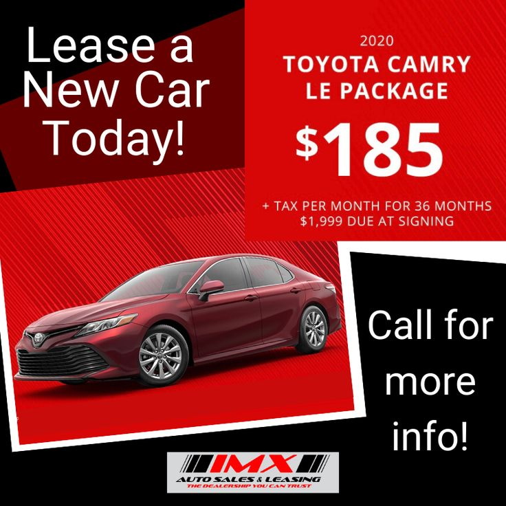 ‼️Lease Special‼️ 2020 Toyota Camry LE Package 185 +Tax
