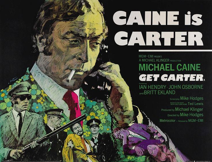 "Arnaldo Putzu's iconic poster for Mike Hodges' thriller, ""Get Carter"". From Adrian Curry's article on the poster designs for that film."